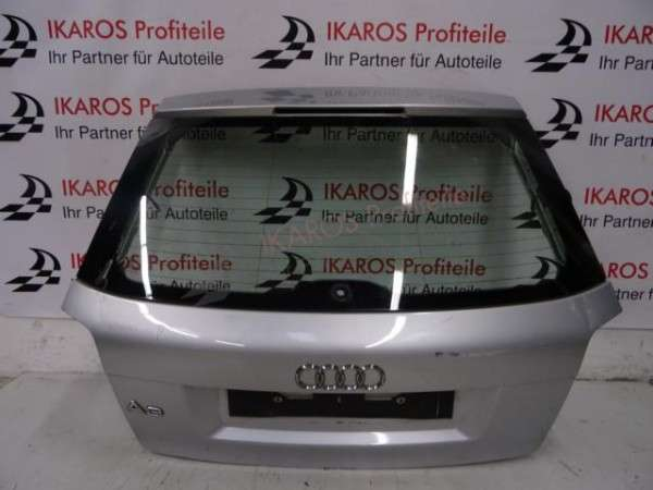 Audi A3 8P Heckklappe 3 türer Heckdeckel Kofferaumdeckel Silber