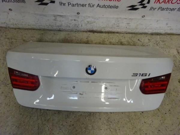 BMW 3er F30 Limousine Heckklappe Kofferraumdeckel Weiß Heckdeckel